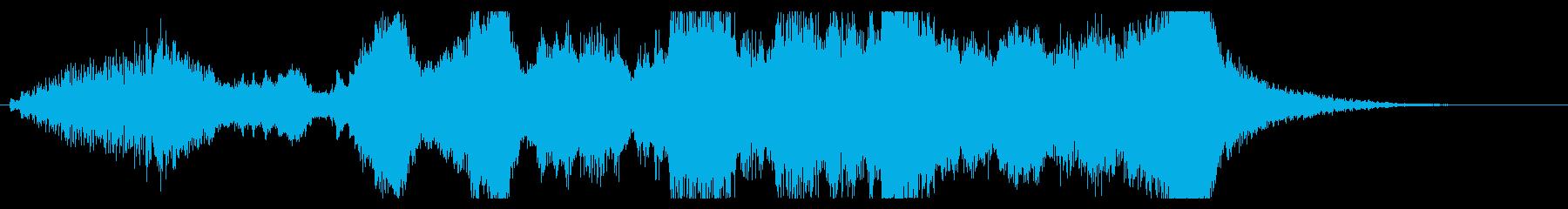 壮大な祝典風ファンファーレの再生済みの波形
