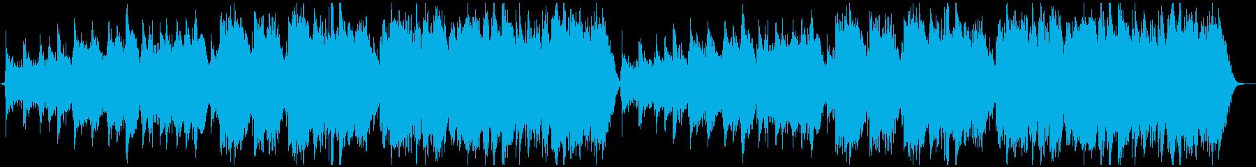 優しいケルト曲の再生済みの波形
