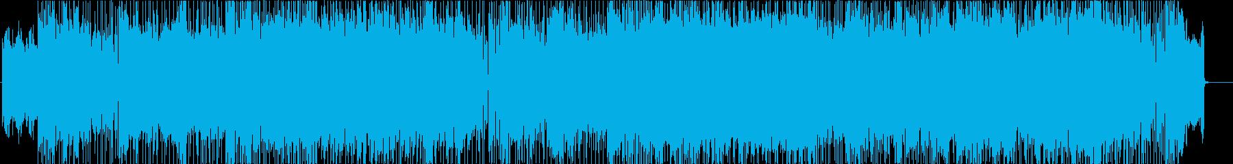 ブルージーなギターロックインストの再生済みの波形