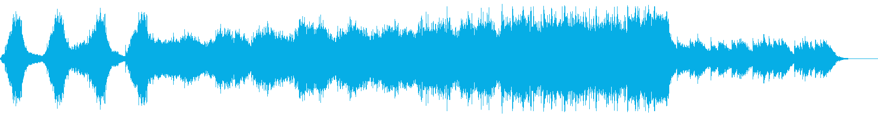 サスペンス映画の緊迫のクライマックス曲の再生済みの波形