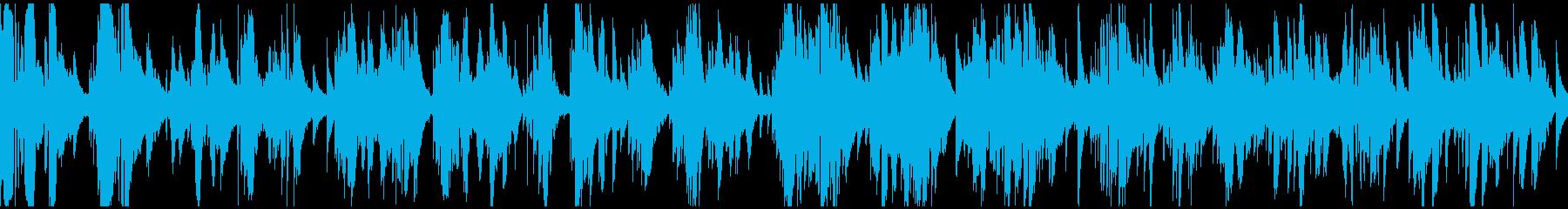 極太低音サックスのソフトジャズ※ループ版の再生済みの波形