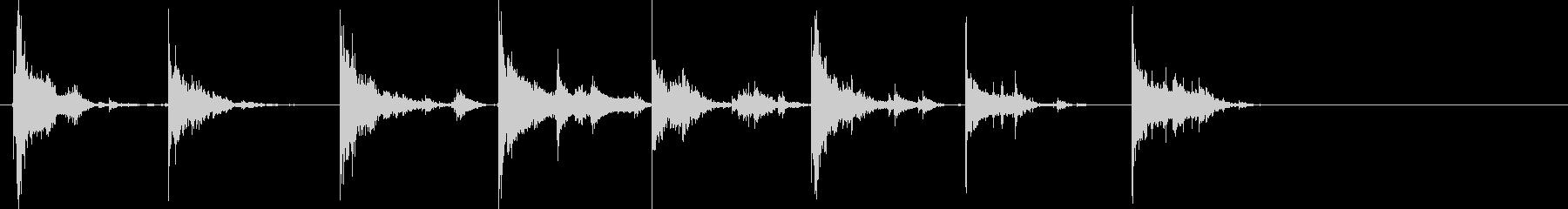 チャリチャリ(コインが連続排出される音)の未再生の波形