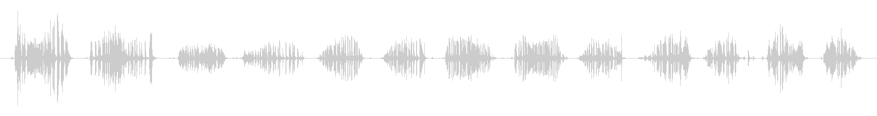 発泡スチロールのきしみ音ときしみ音の未再生の波形
