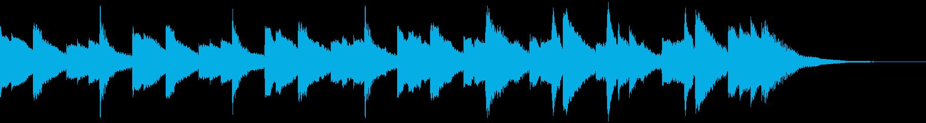 ファンタジーの冒頭 ケルトなハープの再生済みの波形