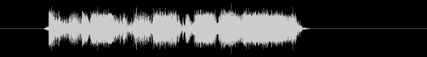 激しいベースの音の未再生の波形