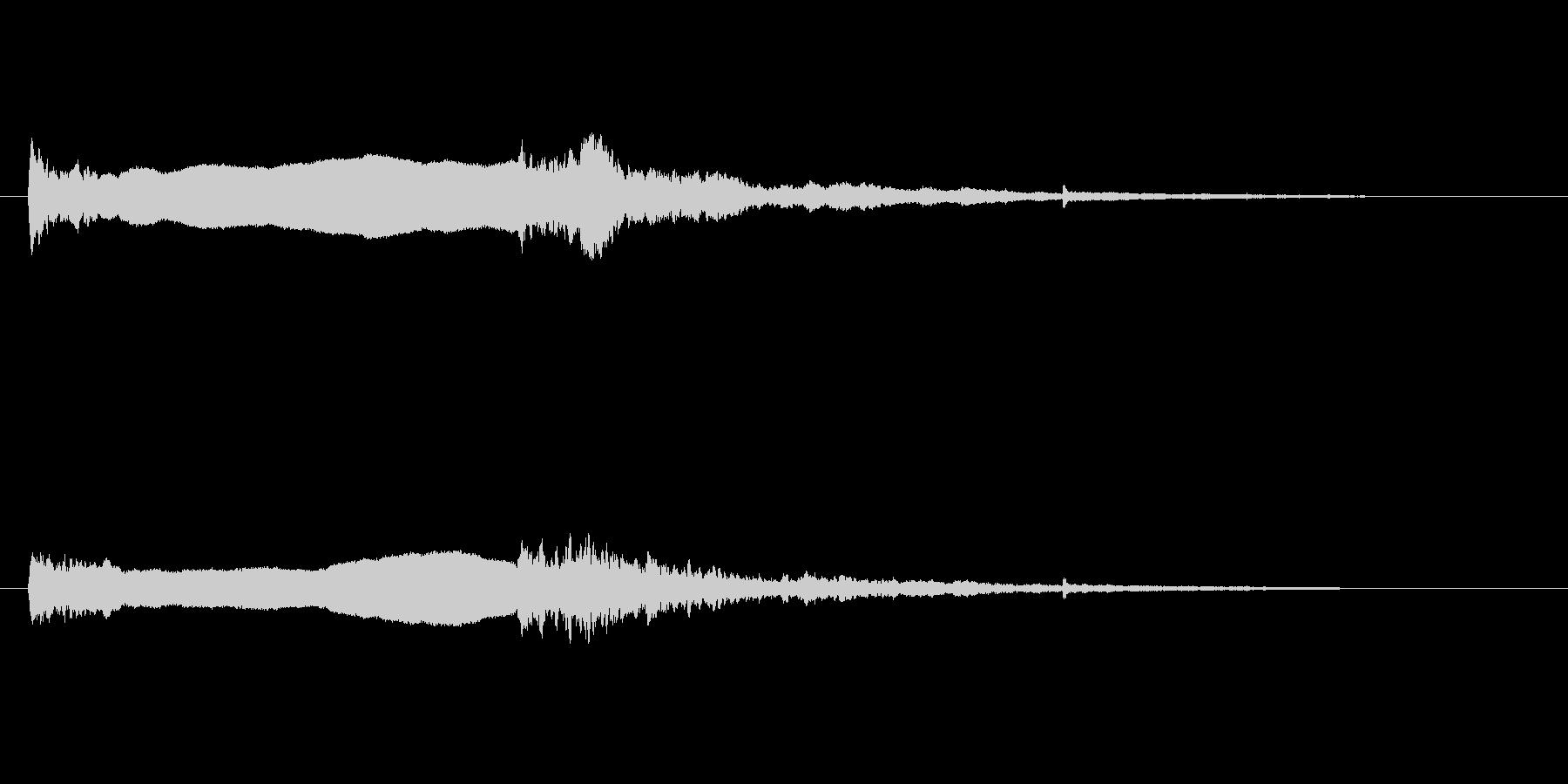 火のサイレン1の未再生の波形