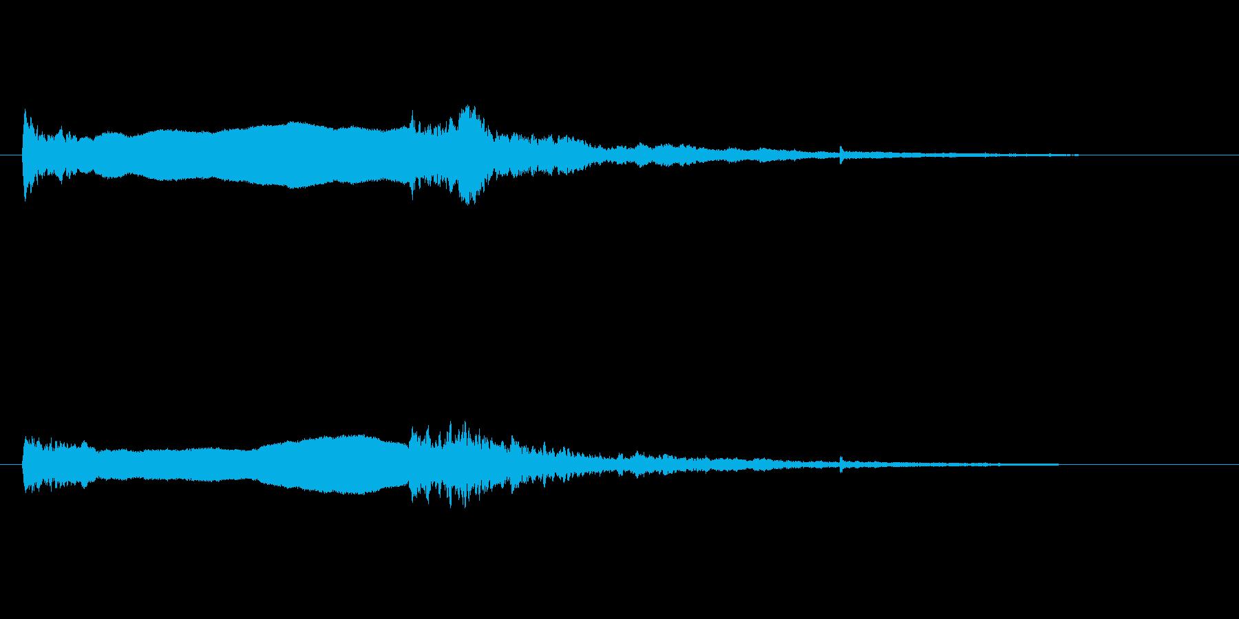火のサイレン1の再生済みの波形