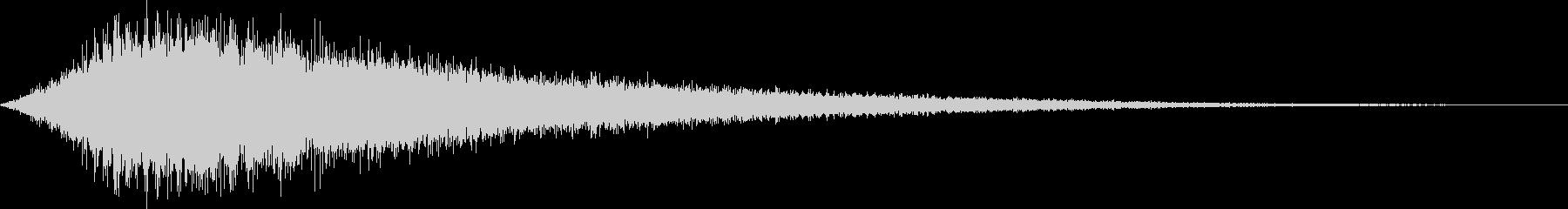 シャキーン_シンセで作ったイメージ音の未再生の波形