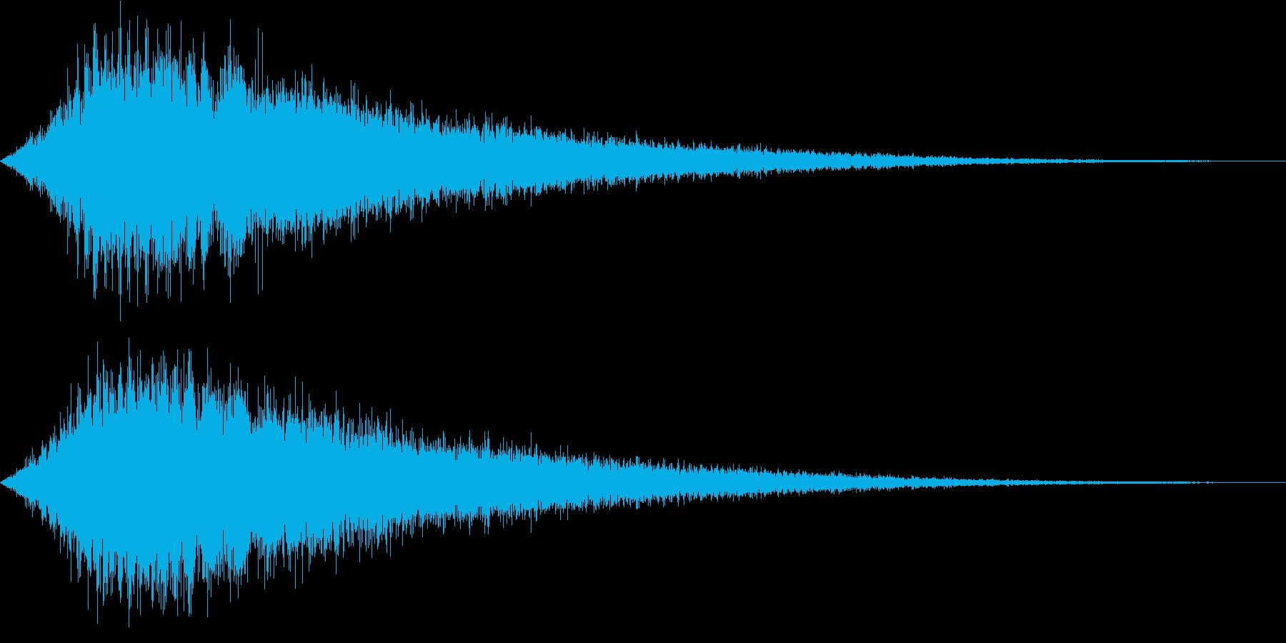 シャキーン_シンセで作ったイメージ音の再生済みの波形