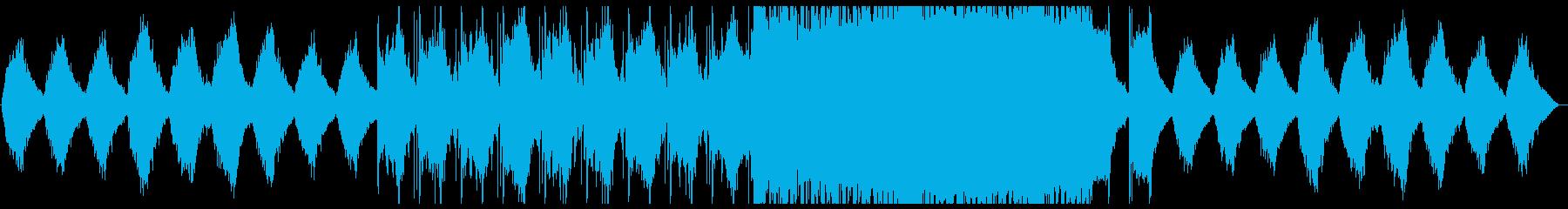 【ゲーム、アプリ等】近未来的なBGMの再生済みの波形