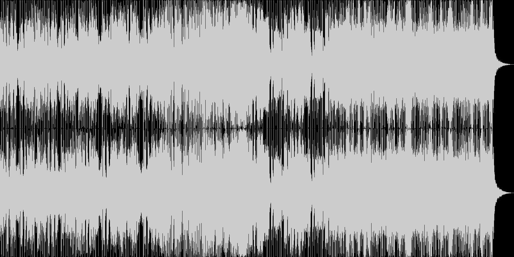 緊張感のあるエレクトロニカの未再生の波形