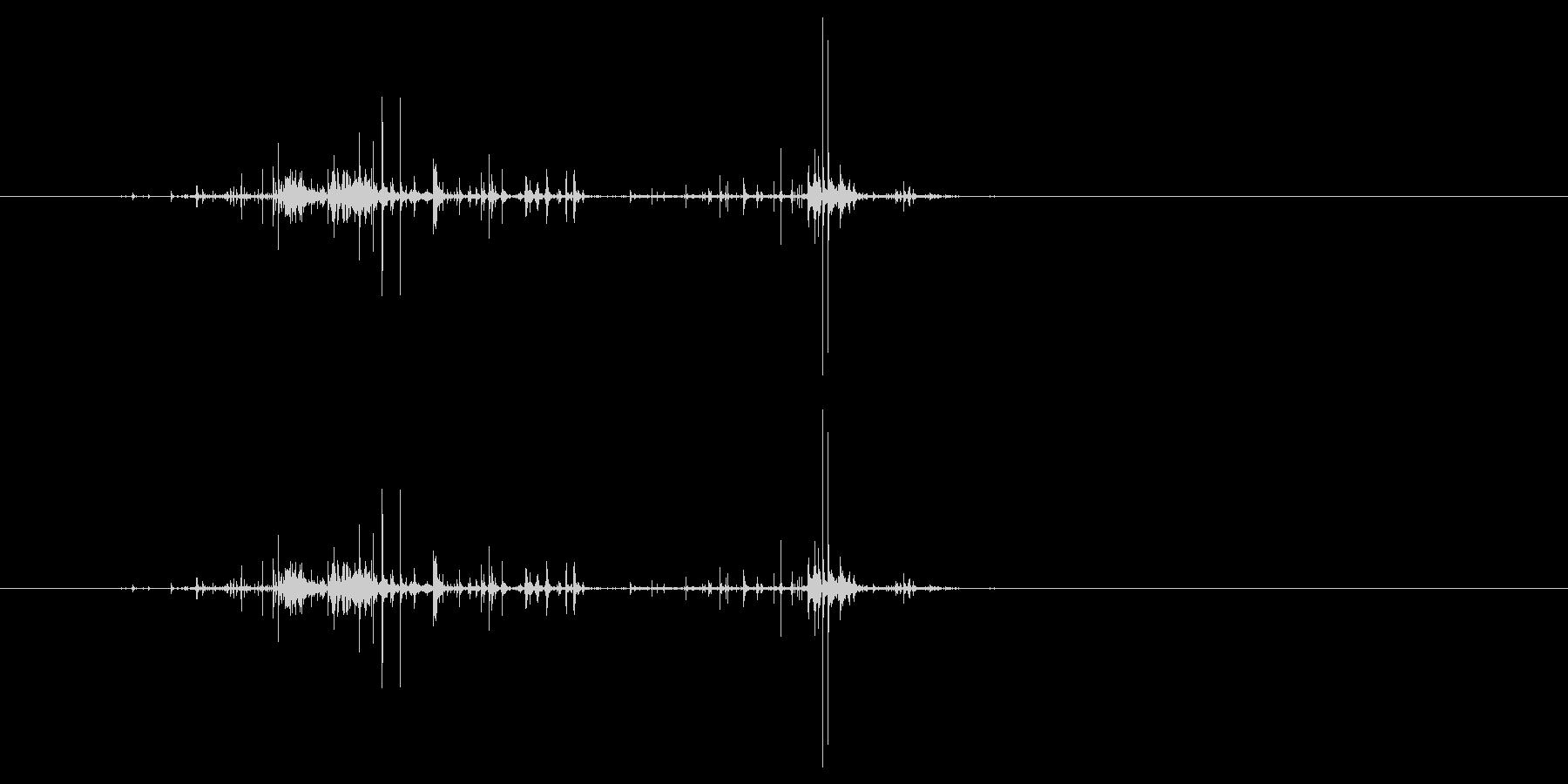 モンスターの口が開くような音2の未再生の波形