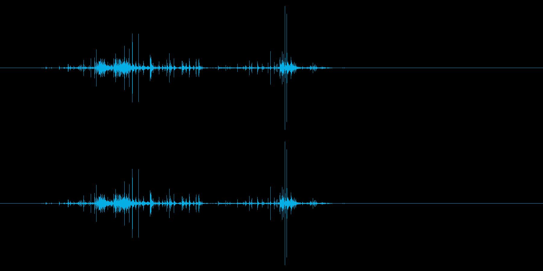 モンスターの口が開くような音2の再生済みの波形