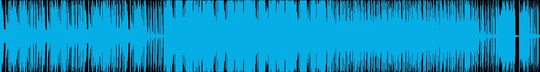 スクラッチが激しいヒップホップの再生済みの波形