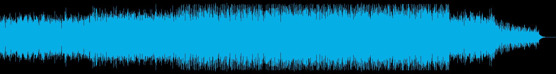 少しダークで幻想的な曲の再生済みの波形