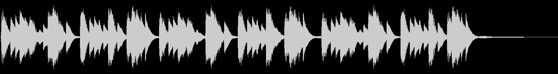 機能性・便利なイメージを与えるピアノソロの未再生の波形