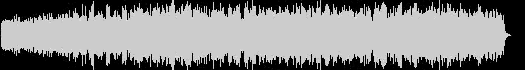 不思議で未来的なイメージのBGMの未再生の波形