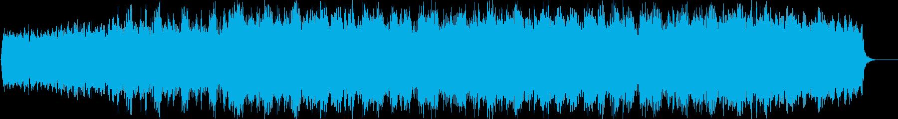 不思議で未来的なイメージのBGMの再生済みの波形