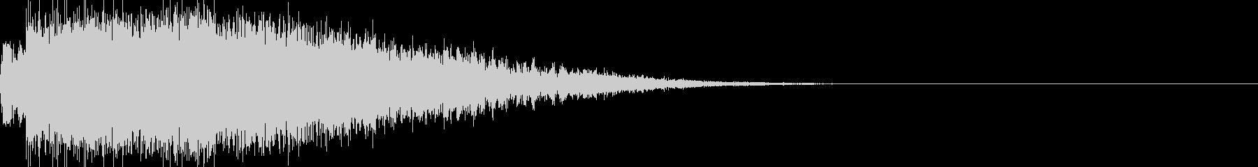 ガキーーーーン 刀の音の未再生の波形