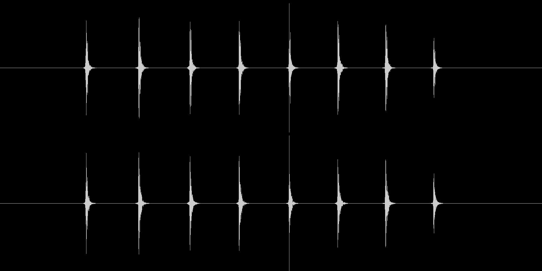 【生音】手・叩く - 4 「ぱちぱちぱ…の未再生の波形
