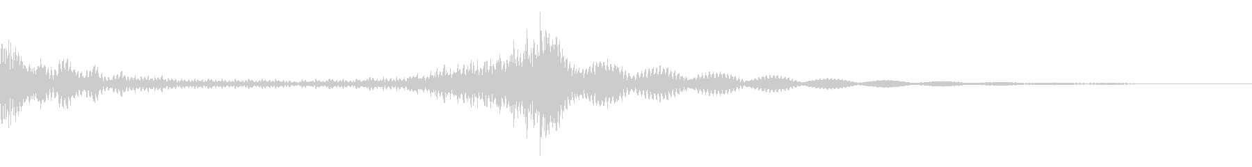 程よいニュアンスのティンパニロールの未再生の波形