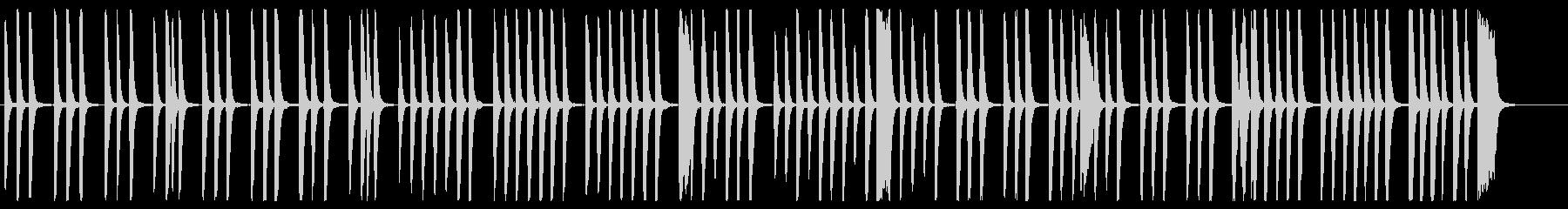 優しくシンプルでリズミカルなピアノの調べの未再生の波形