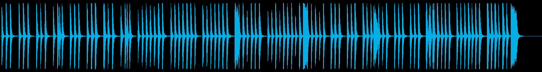 優しくシンプルでリズミカルなピアノの調べの再生済みの波形
