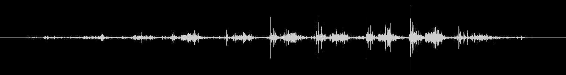 タブレッド菓子出す音・振る音6の未再生の波形
