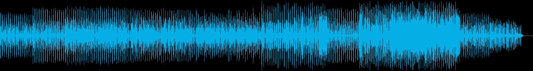 口笛を吹いているような楽しい楽曲の再生済みの波形