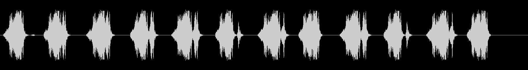 キュキュキュ(何かが歩いている音)の未再生の波形