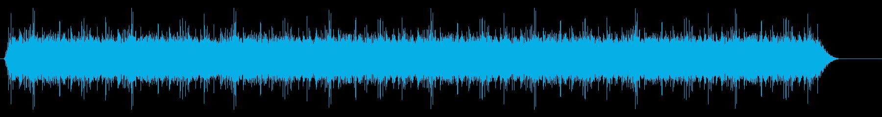 激しい雨/ザーッ/残響あり/約1分の再生済みの波形
