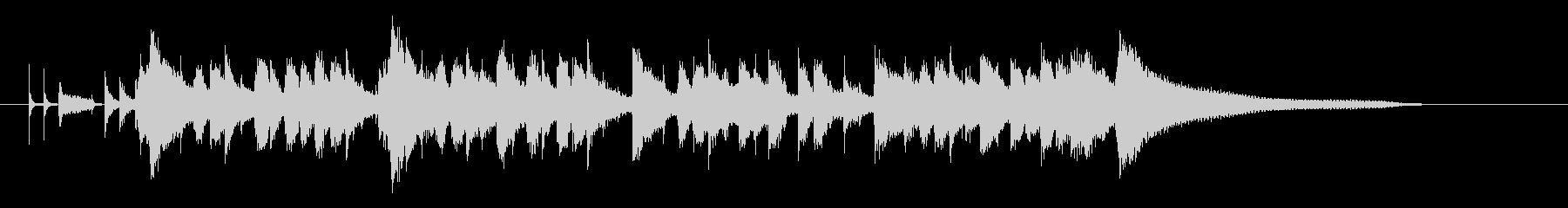 ラジオっぽいおしゃれなピアノのボサノバの未再生の波形