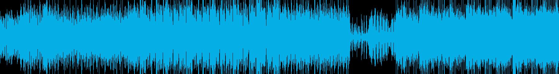 ダークでロックな雰囲気の曲の再生済みの波形