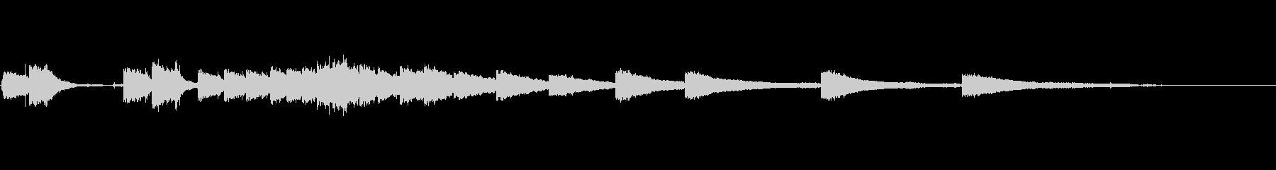 生音エレキギター6弦チューニング3エコーの未再生の波形