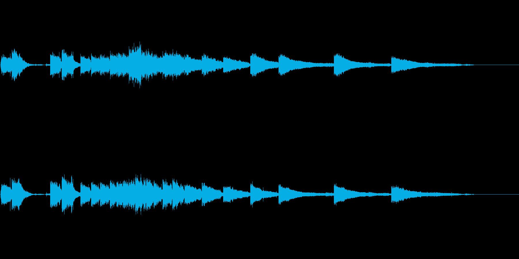 生音エレキギター6弦チューニング3エコーの再生済みの波形