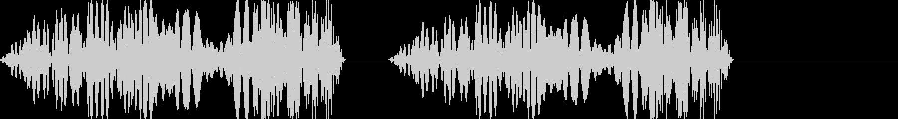 DJプレイ スクラッチ・ノイズ 255の未再生の波形