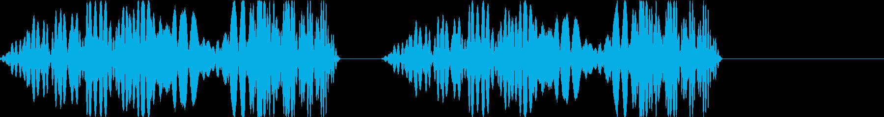 DJプレイ スクラッチ・ノイズ 255の再生済みの波形