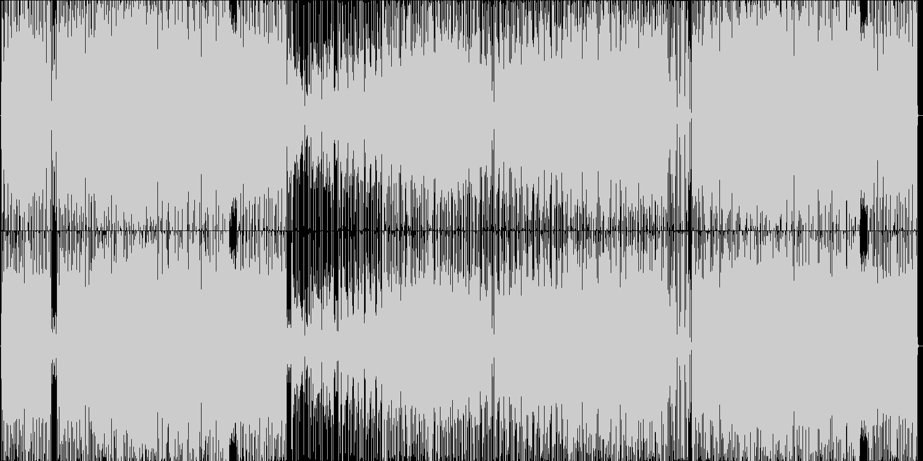 トリッキーなキメのフュージョンの未再生の波形