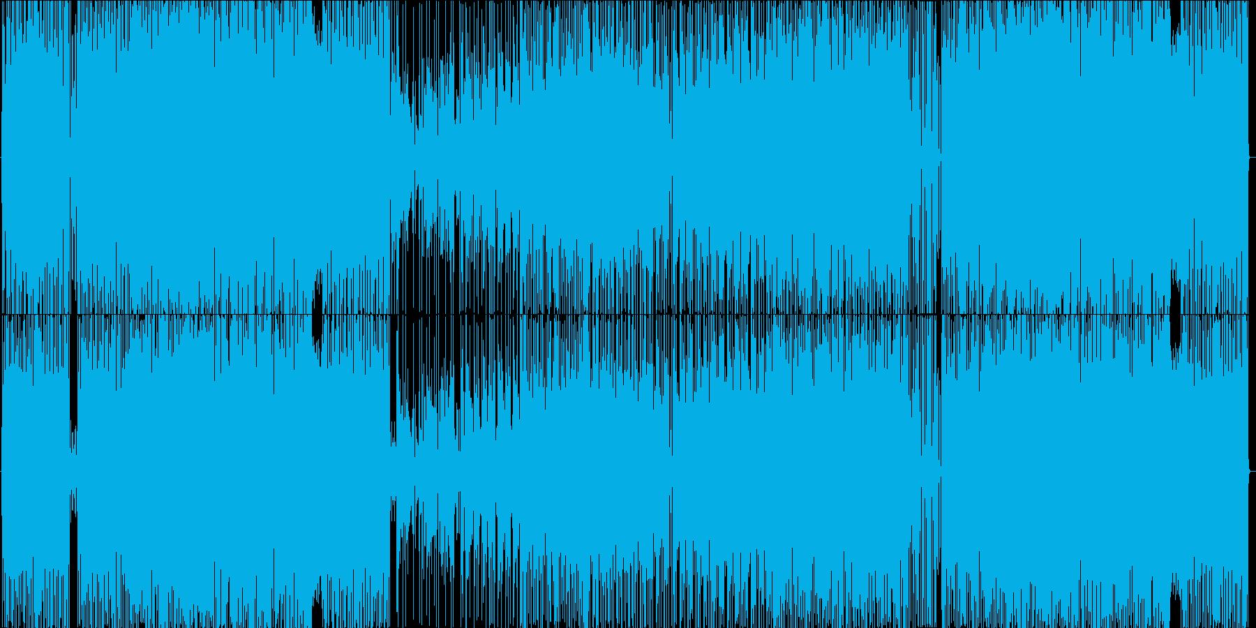 トリッキーなキメのフュージョンの再生済みの波形