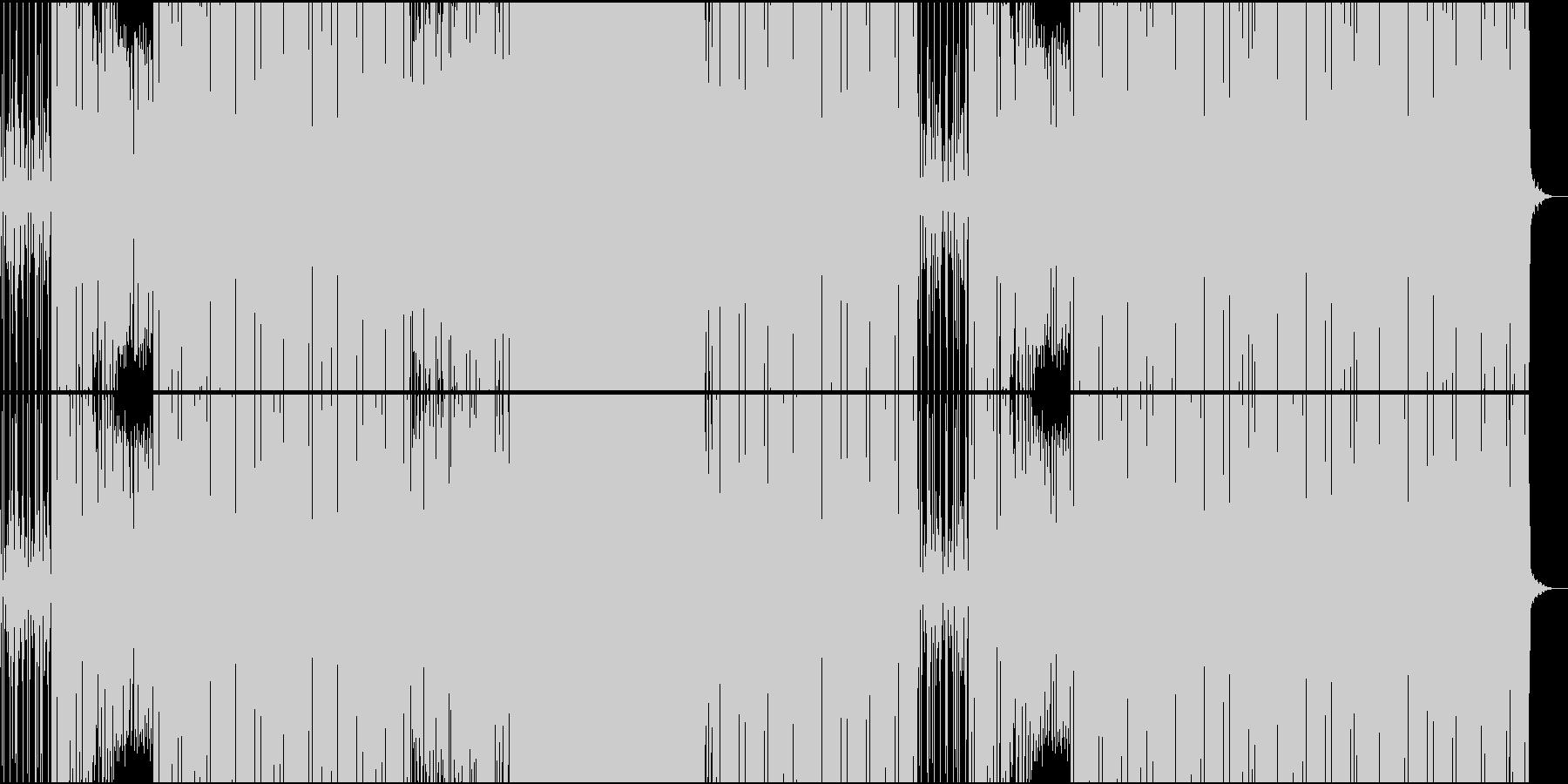 スパイ映画系ワクワクするEDMの未再生の波形