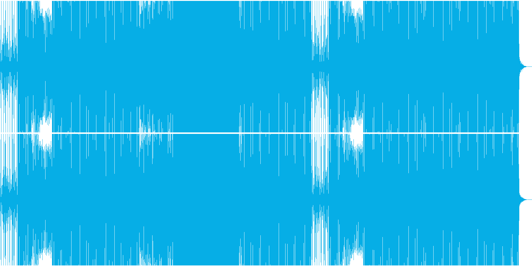 スパイ映画系ワクワクするEDMの再生済みの波形
