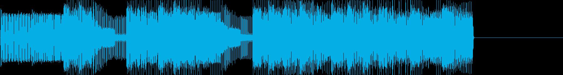 レトロゲームなチップチューンジングル20の再生済みの波形