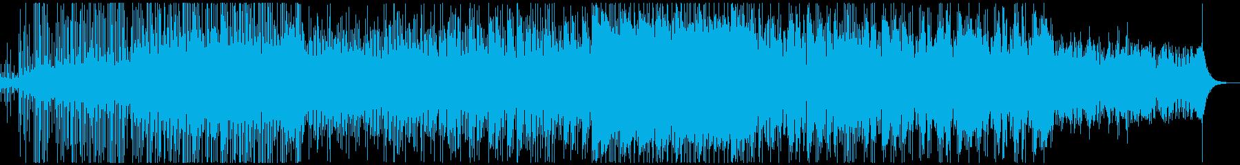 デジタル寄りの緊迫感シネマティック楽曲の再生済みの波形