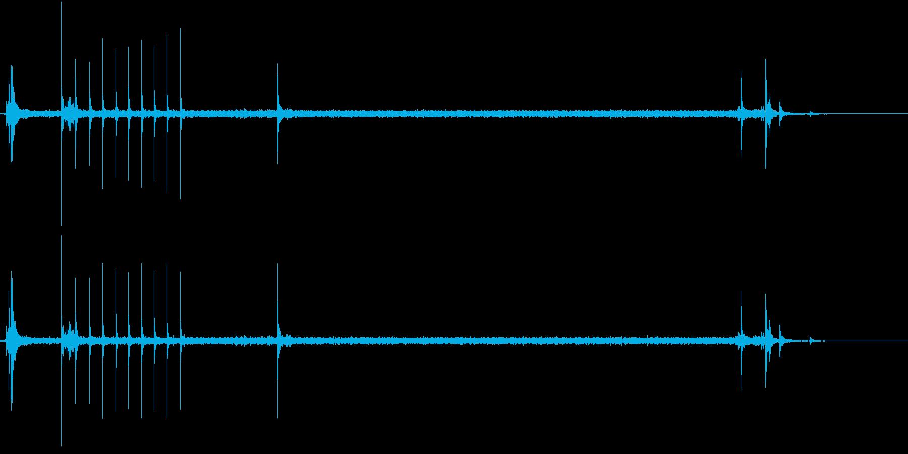 ガチャ!シュー☆ガスコンロの音の再生済みの波形