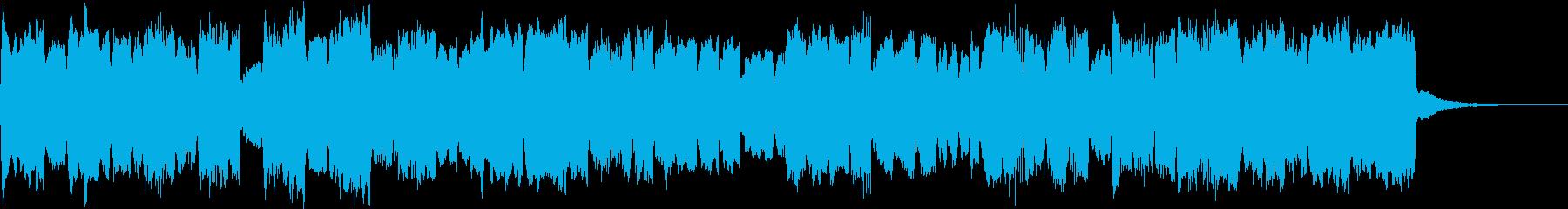 ほのぼのクリスマス、パイプオルガンの小曲の再生済みの波形