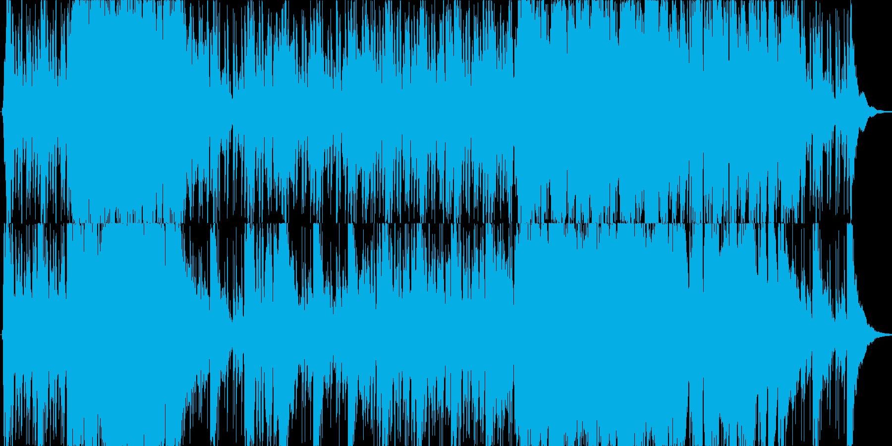 爽やかで軽快なリズムのオーケストラの再生済みの波形