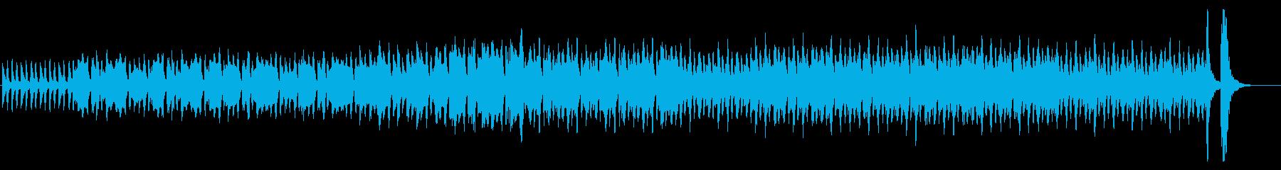 怪しい雰囲気が漂う生音系BGMの再生済みの波形