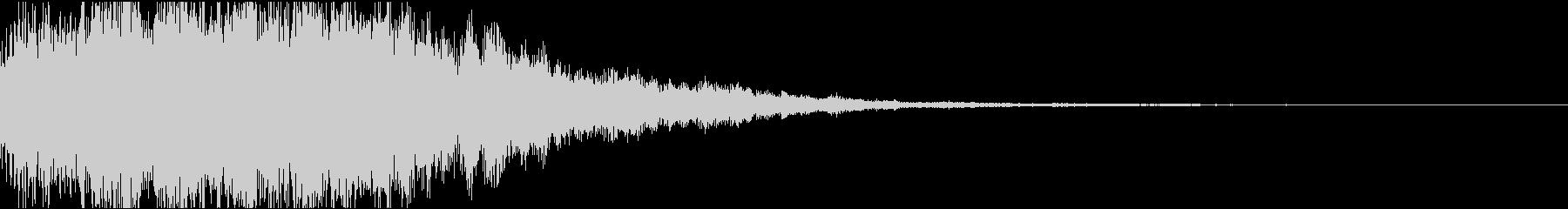 サウンドロゴ01(電子音)の未再生の波形