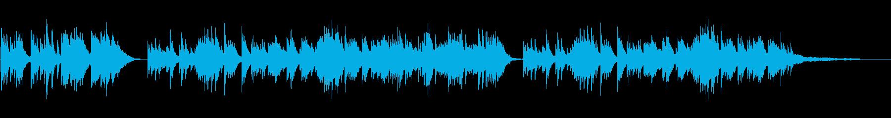 悲しく美しいピアノ曲の再生済みの波形