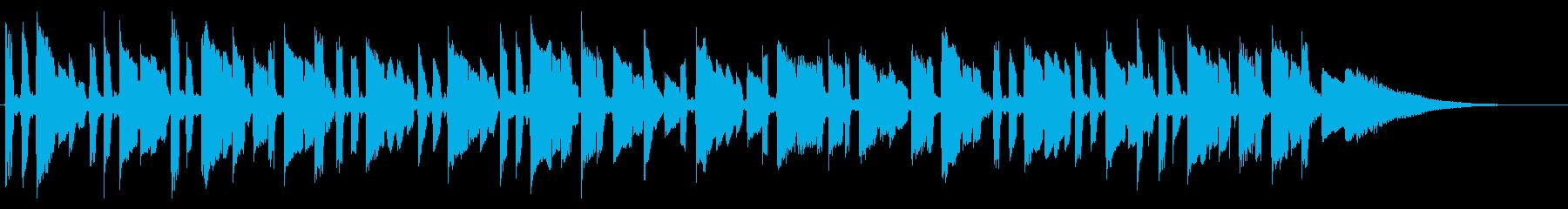 クリーンなギターサウンドの再生済みの波形